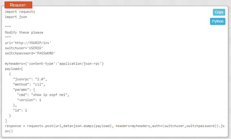Cisco NX-API 1 0 Update · Keeping It Classless